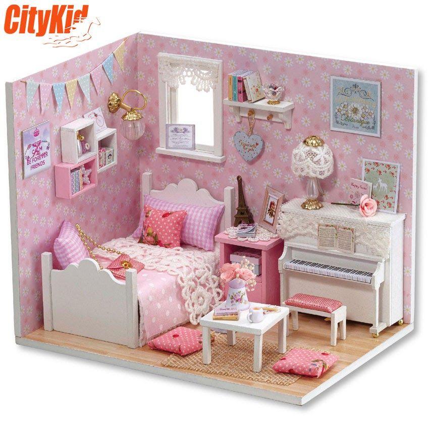 Mô hình nhà gỗ DIY Cute Room H-015 | Đồ chơi mô hình nhà cửa | Pinterest