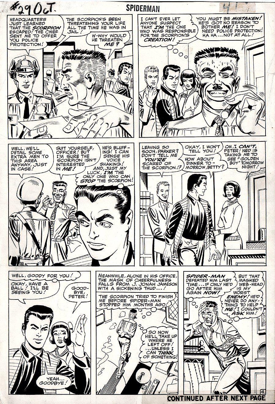 Spider-Man 29, page 4   Steve Ditko Original Art Pages