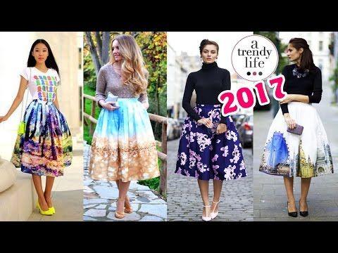 dd6abe6861 Ideas para combinar faldas anchas – falda circular a la moda - YouTube