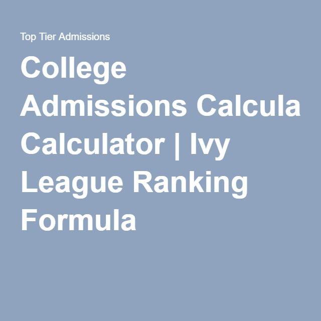 college admissions calculator