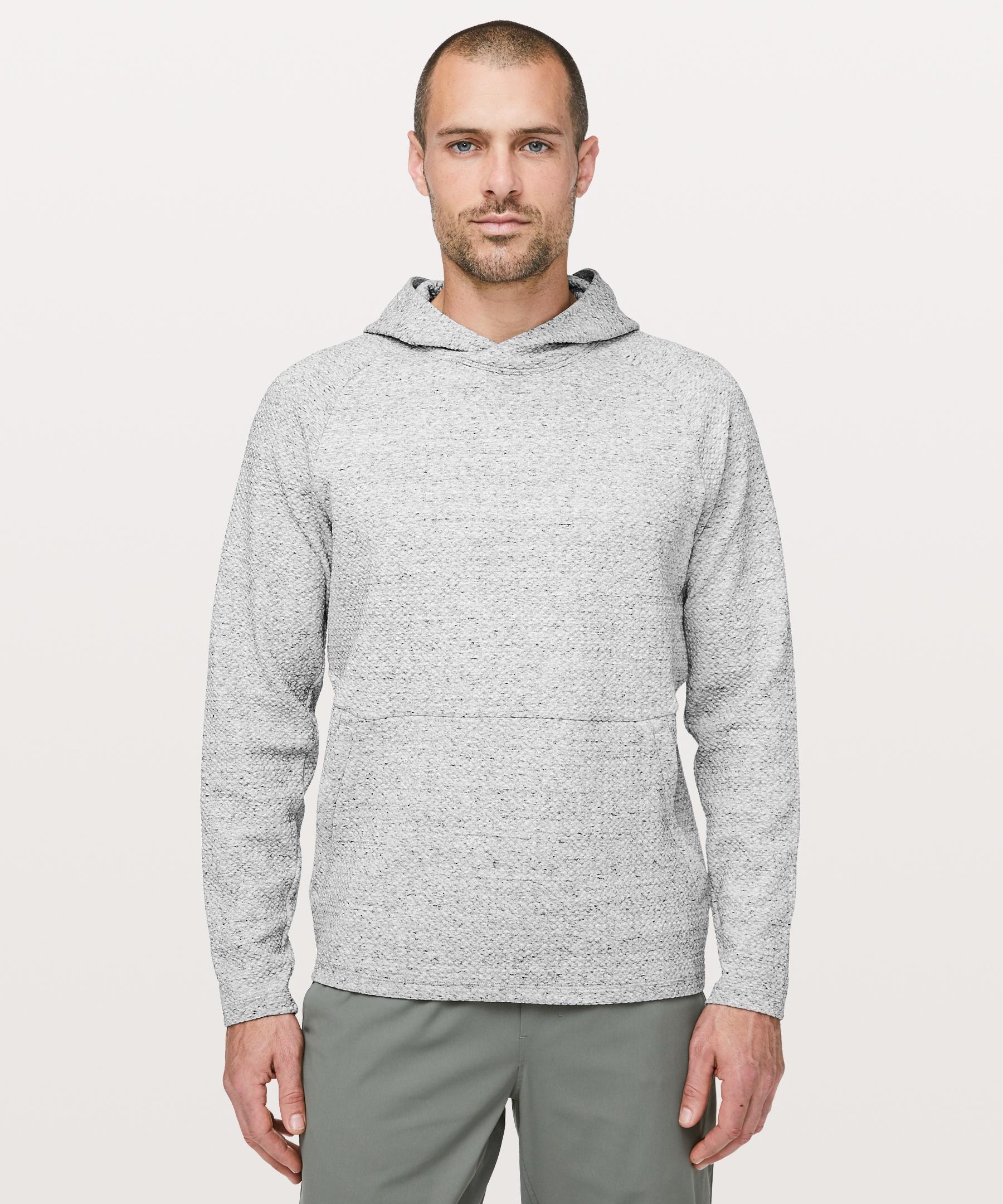 Lululemon Men S At Ease Hoodie Heathered Melody Light Grey Black Size Xs Hoodies Men Mens Sweatshirts Hoodie Hoodies