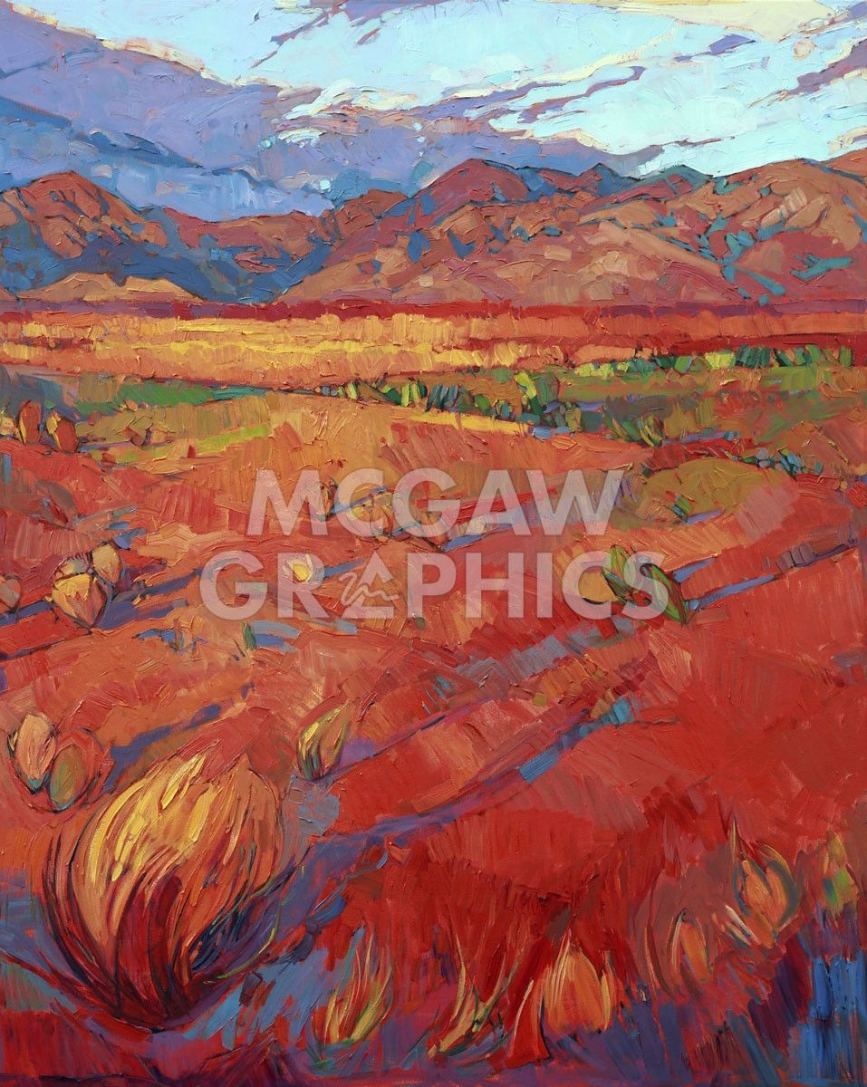 Desert Rainbow Center In 2020 Painting Edges Stretched Canvas Prints Erin Hanson