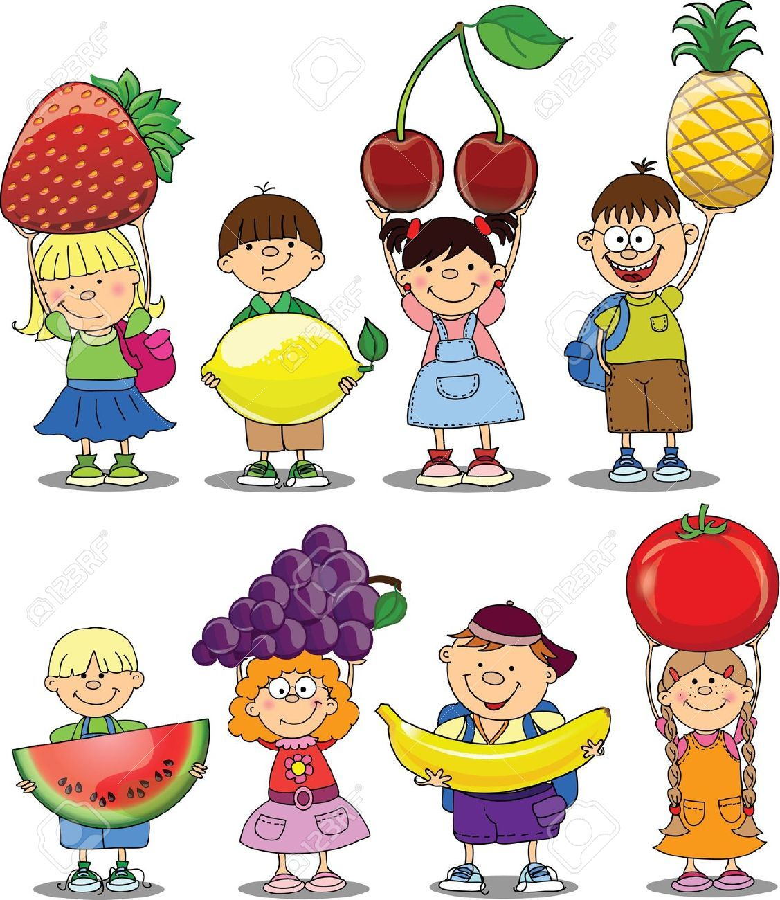 cartoon fruit and vegetable images cartoon vegetables vector