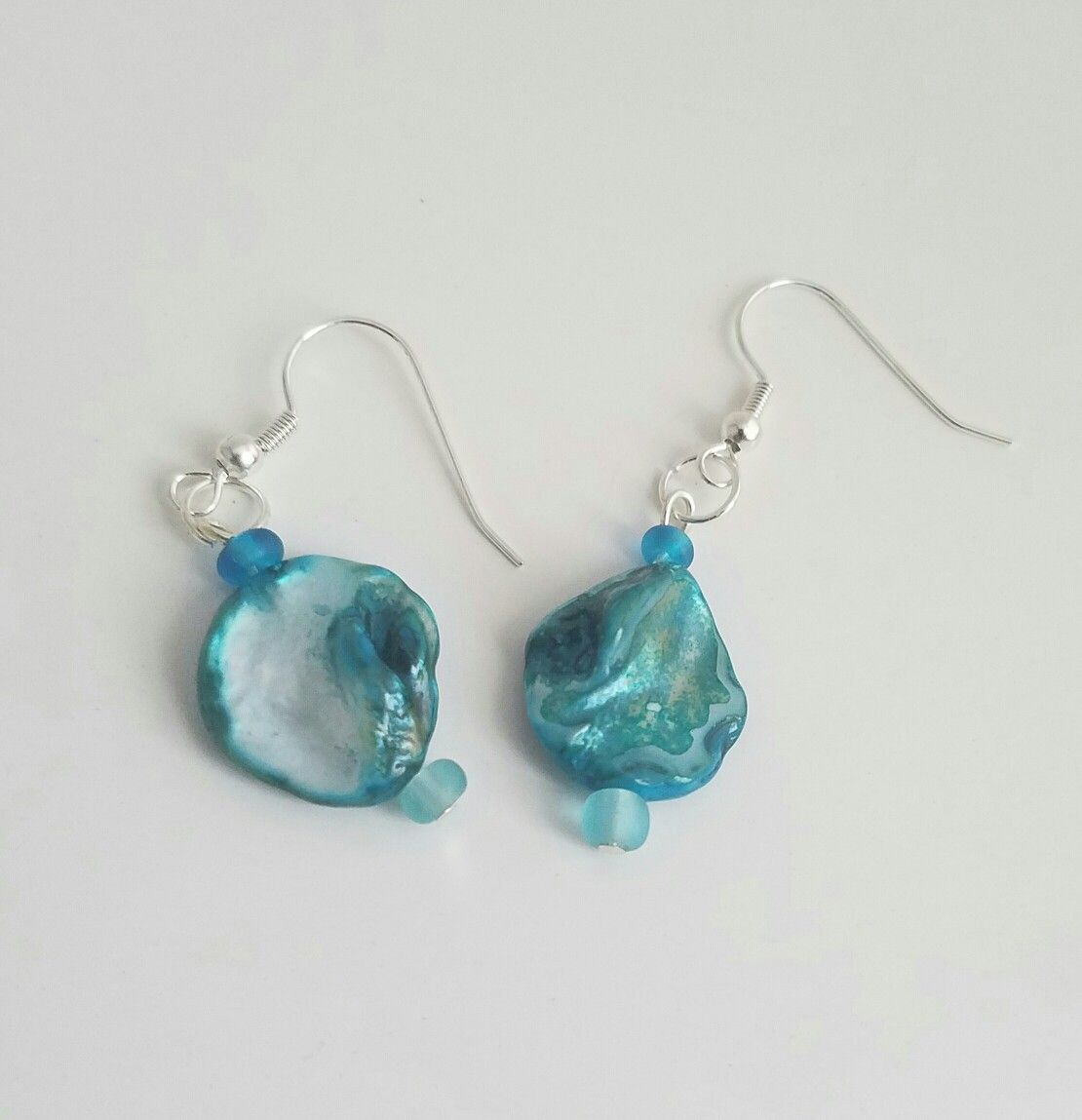 Mama's turquoise earrings, August 2016