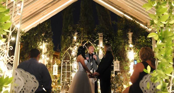 Wedding Viva Las Vegas Outdoor Garden Weddings