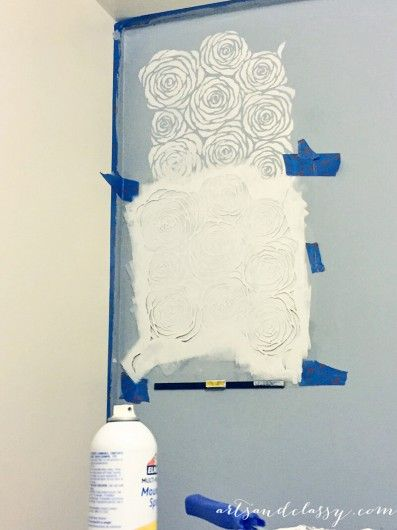 The Roses Stencil Blooms On A Kitchen Accent Wall  Kitchen Accent Inspiration Kitchen Stencil Designs Inspiration