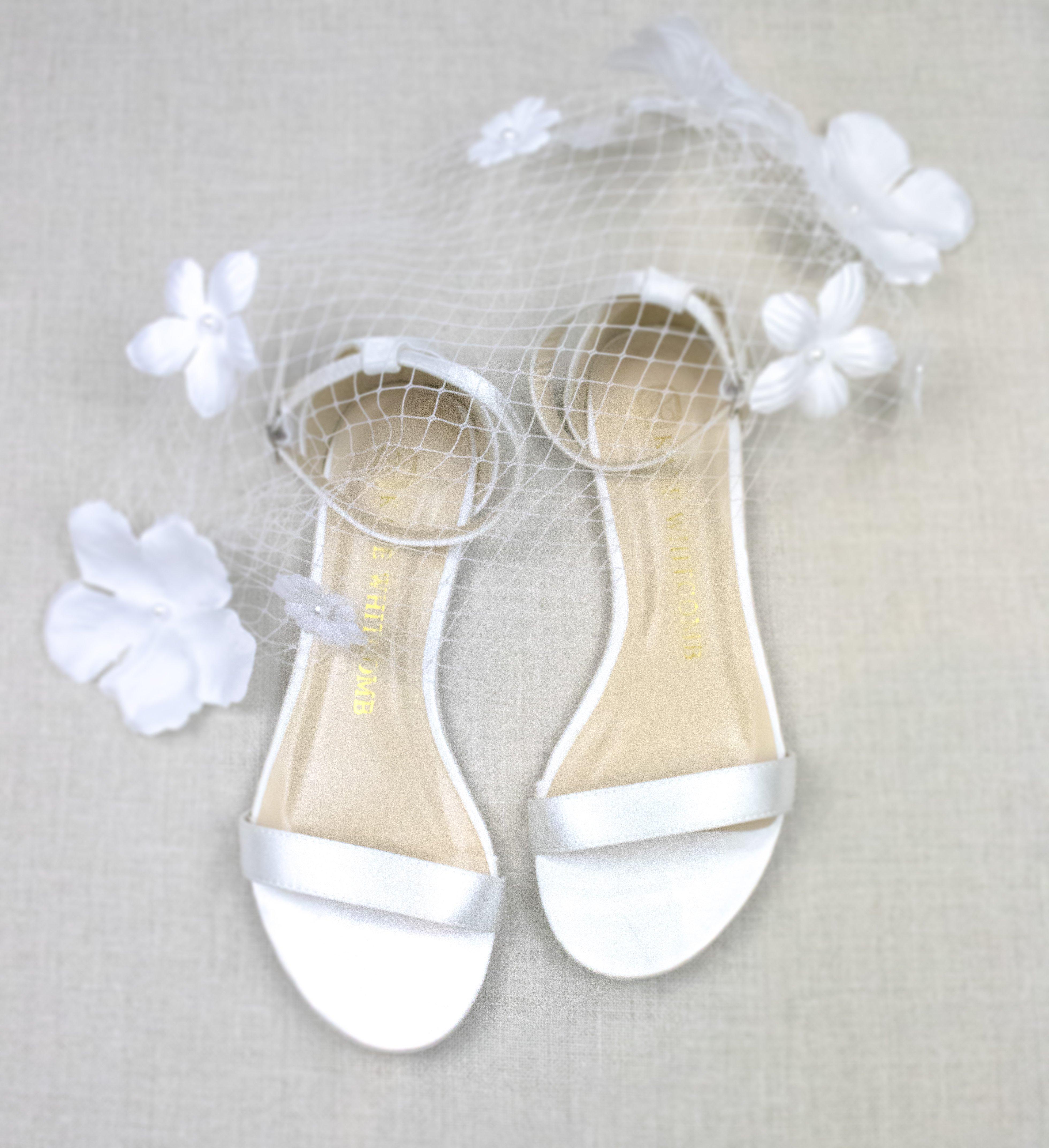 Wedding Shoes Satin Flat Flora Ivory Bridal Shoes Bridal Shoes Flats Bridal Sandals