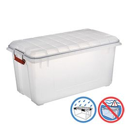 Clear Weathertight Trunk Storage Container Store Garage