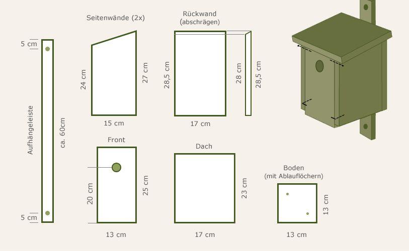 nistkasten selber bauen und anbringen garten pinterest. Black Bedroom Furniture Sets. Home Design Ideas