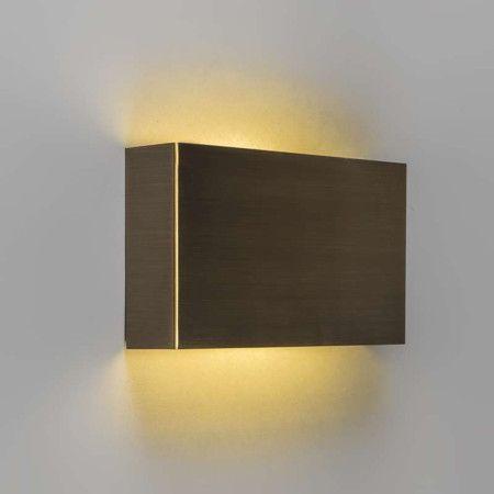 Wandleuchte otan bronze led schlanke und neutrale wandleuchte f r indirekte beleuchtung an der - Indirekte wohnzimmerbeleuchtung ...