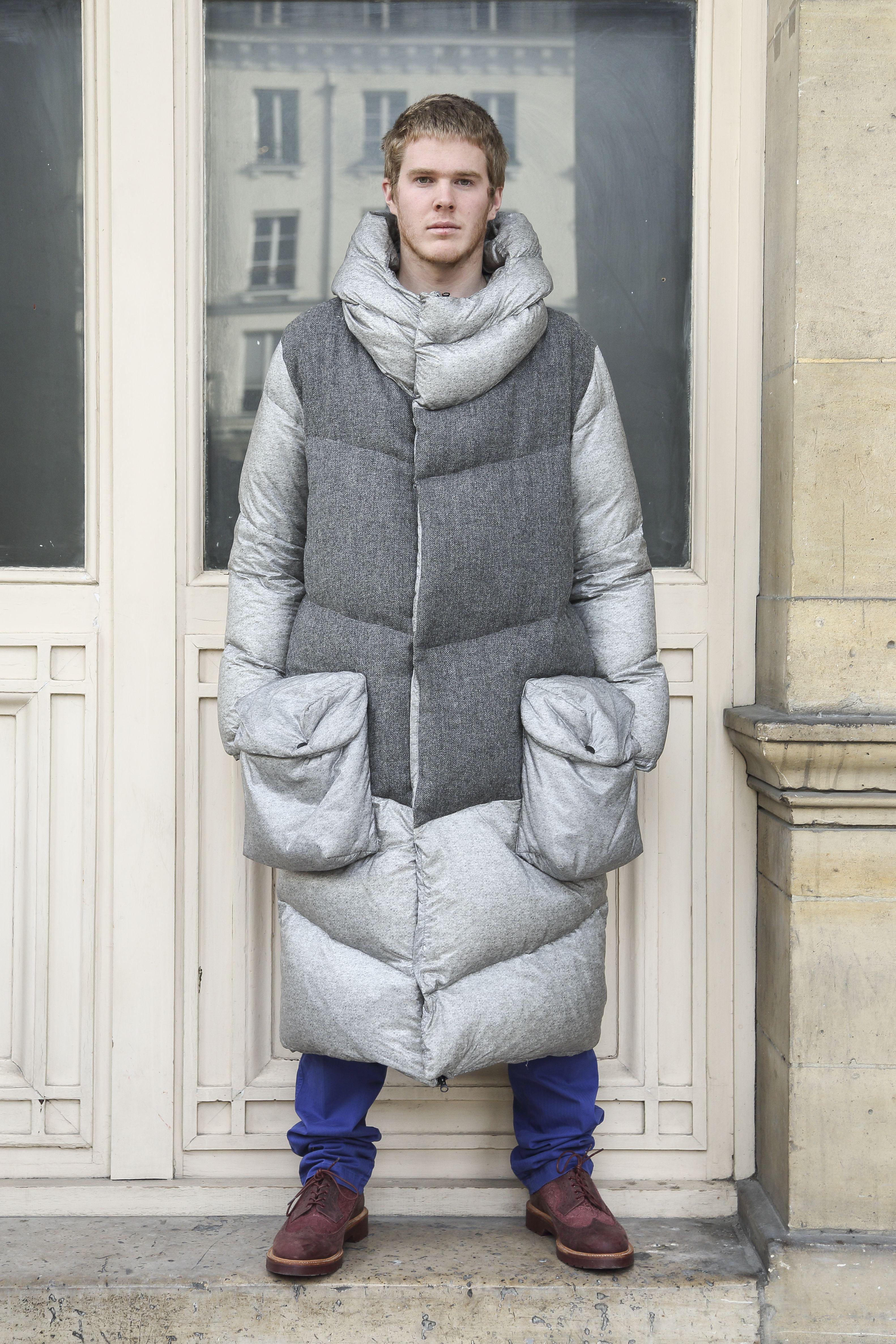 SLEEPING BAG COAT – GREY WOOL | Tailored fashion, Fashion, Coat