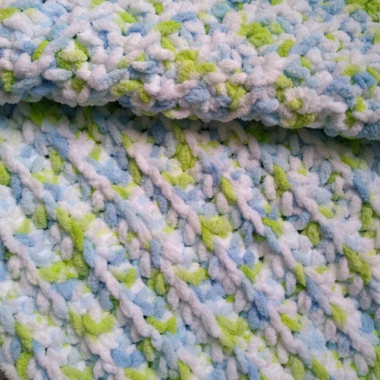 Handmade Crochet Bernat Baby Blanket Funny Prints