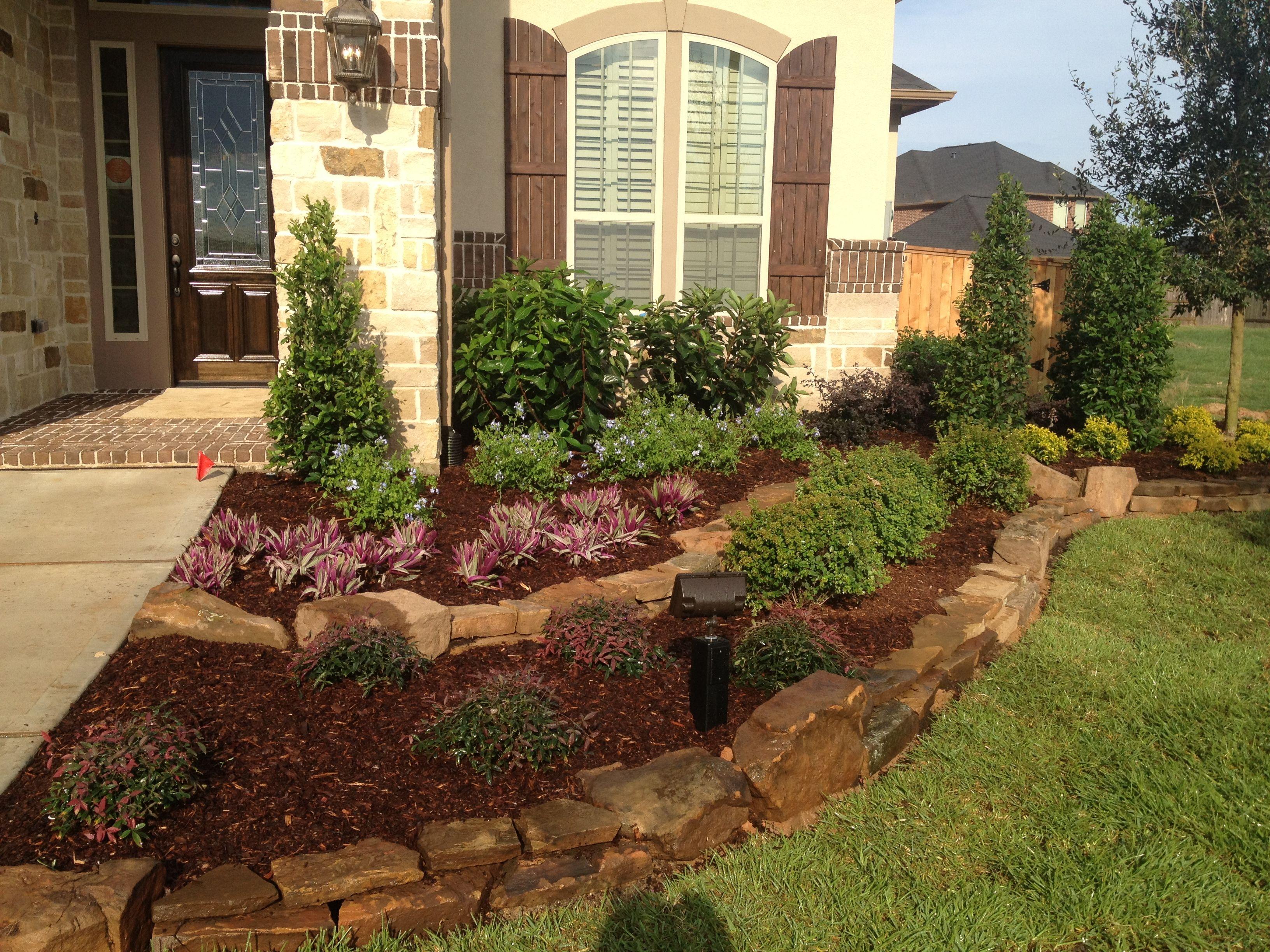 Front Entry To Model Home Home Landscaping Front Yard Landscaping Landscape Design