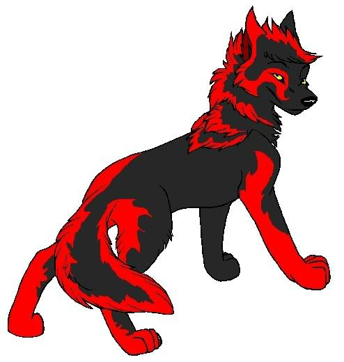 Anime Wolves Anime Red And Black Wolf Image Graphic
