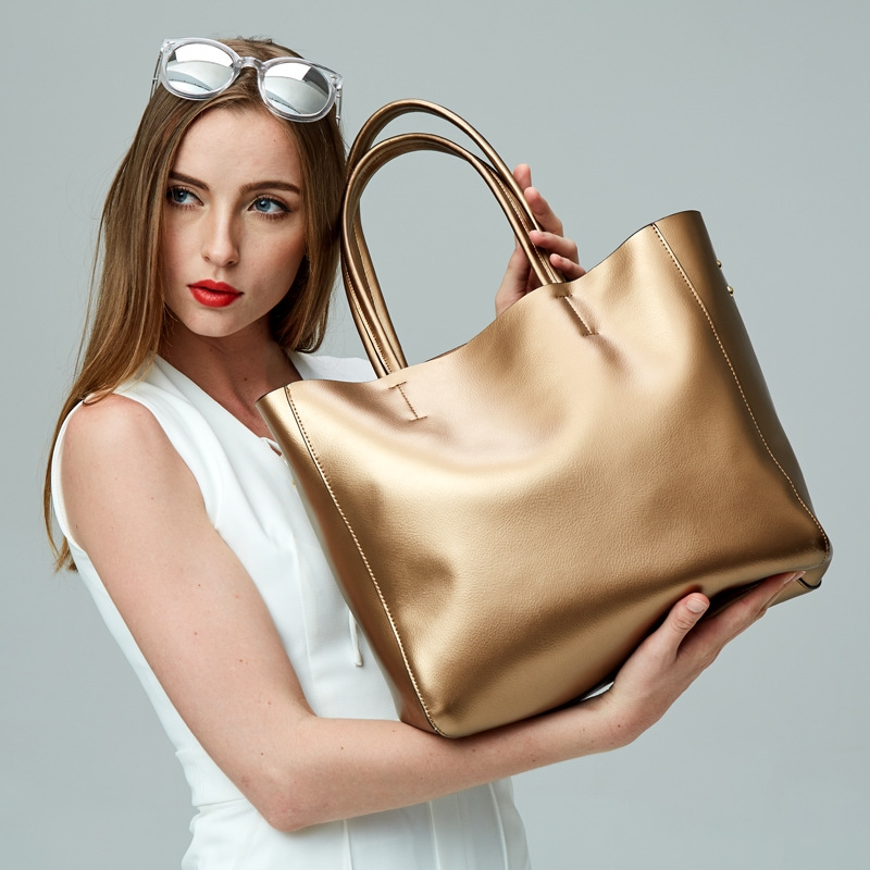 66.80$  Watch now - http://alis1e.worldwells.pw/go.php?t=32711193155 - new american luxury style genuine leather women shoulder bag brand designer cowhide handbags skin soft crossbody bag