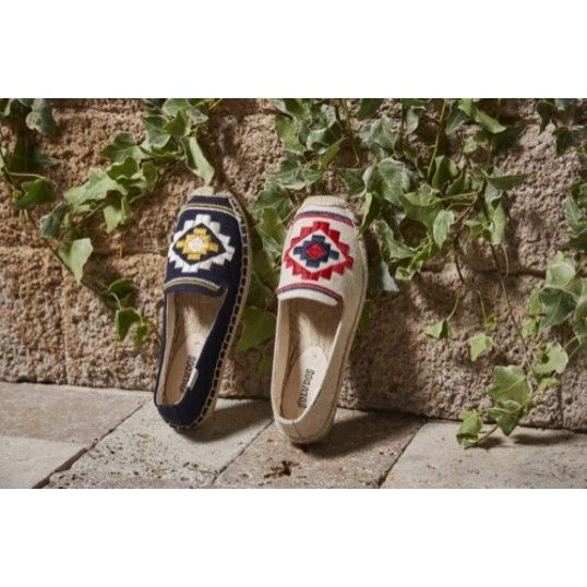 Bohemian Embroidered Platform Smoking Slipper