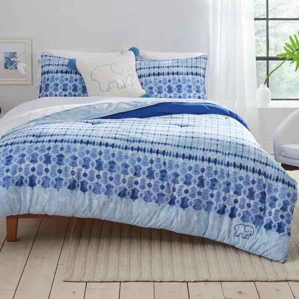 Ivory Ella Ivory Ella Sadie Navy Comforter Set Twin Twin Xl Wayfair Navy Duvet Covers Navy Comforter Sets Duvet Cover Sets