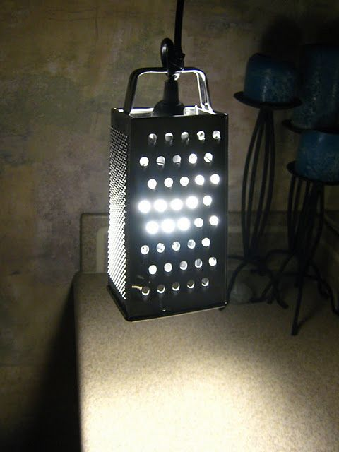 Make a cheese grater lamp gets onto my to do list.