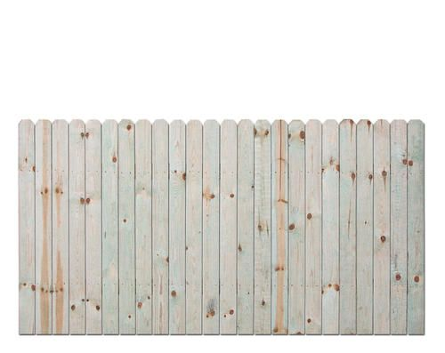 4 H X 8 W Dog Eared Ac2 Treated Fence Panel At Menards Fence Panels Dog Ear Fence Wood Fence