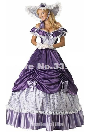 19 Century Purple Civil War Southern Belle Gown Evening Dress Party Victorian  Dresses from Salelolita a57148577ad9
