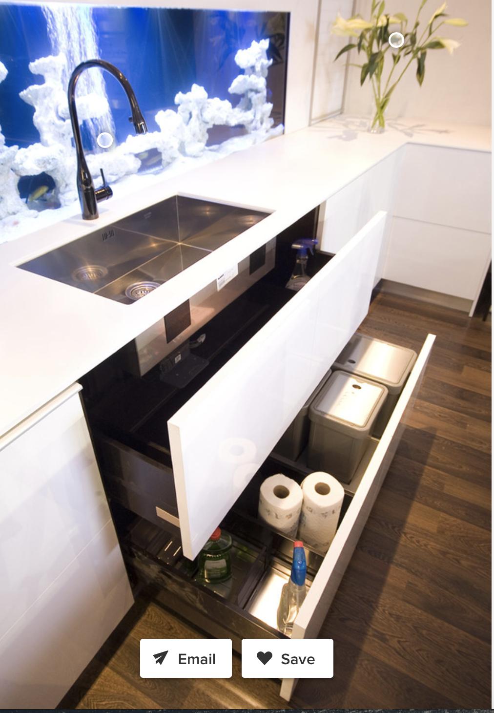 Kitchen cabinet idea | Under sink drawer, Contemporary ...