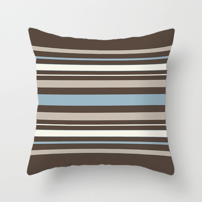 Blue Brown Decorative Pillow Covers Geometric Pillows For Sofa In