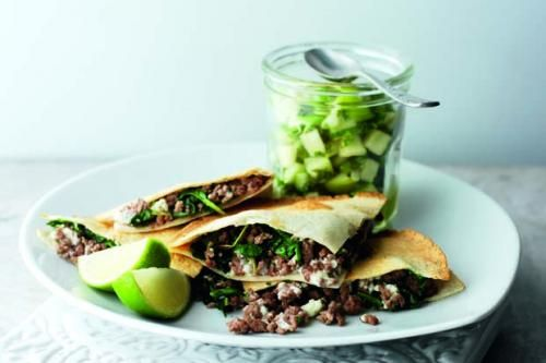 Spiced Lamb Quesadilla. spiced lamb mince with melting ...