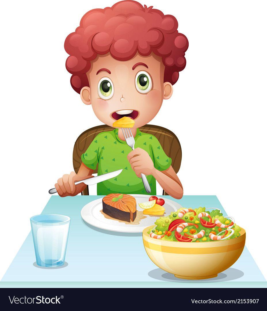 Картинка мальчика с едой