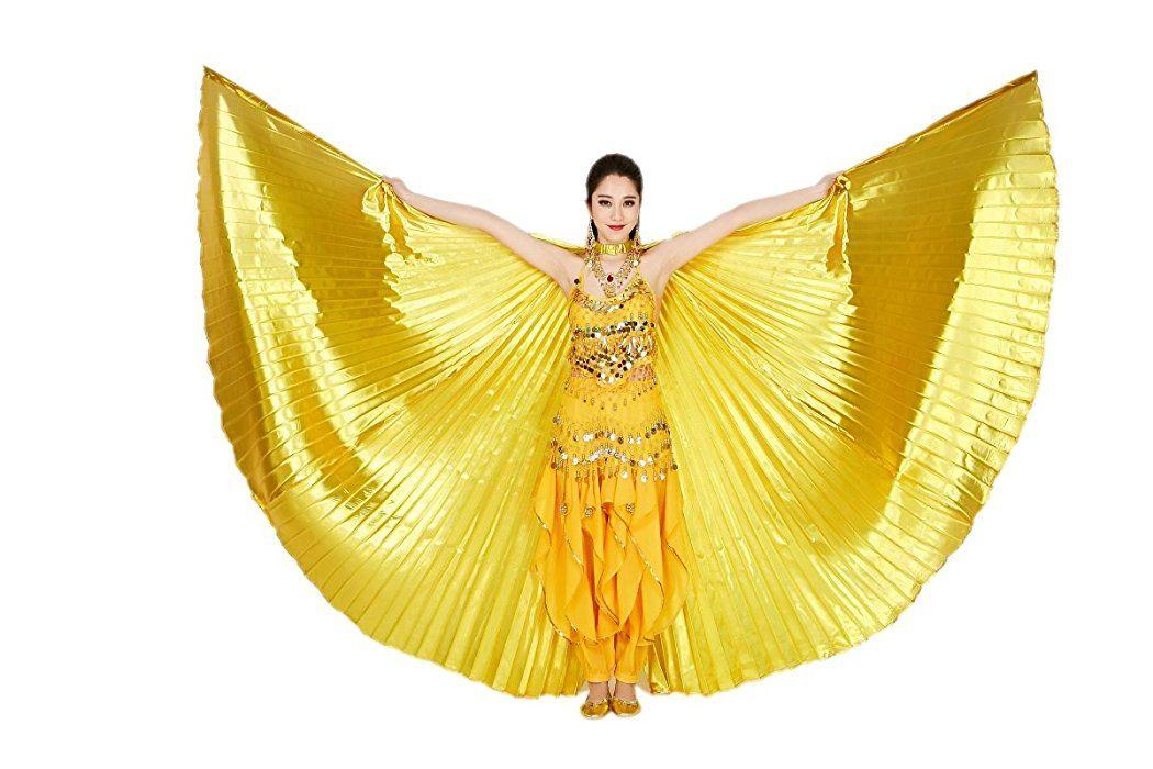 Amazon com: CISMARK Isis Wings Belly Dance Costume Prop