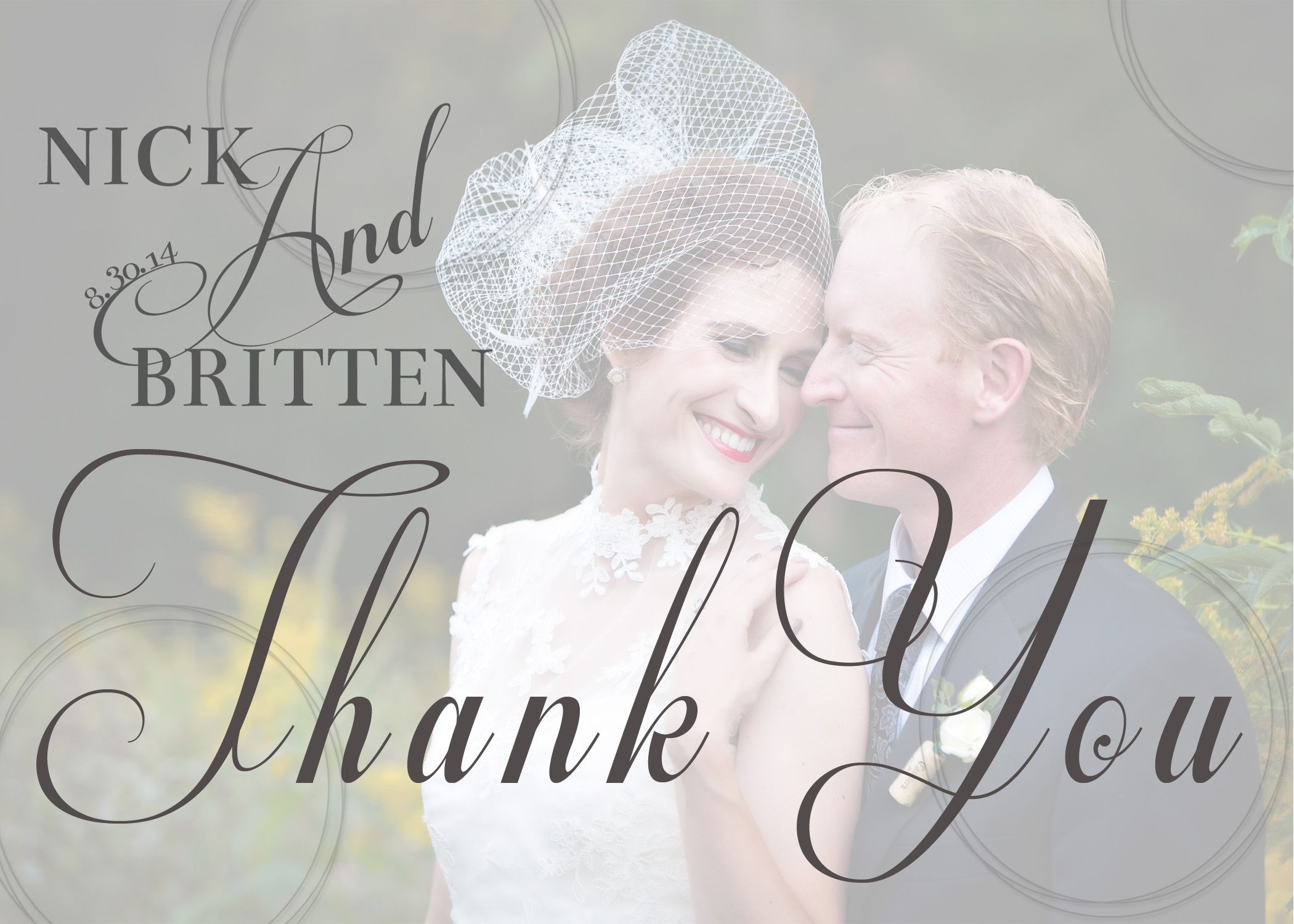 Photo Thank You Card For Our Nickbrit Wedding Gifts