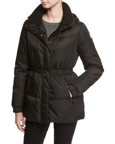 Tvsww Moncler Fatsia Quilted Puffer Coat Puffer Coat Puffer Coat With Hood Black Hooded Coat