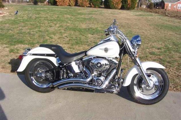 2003 White Harley Davidson Fatboy For Sale For 15k Harley Davidson Harley Davidson Motorcycles Harley