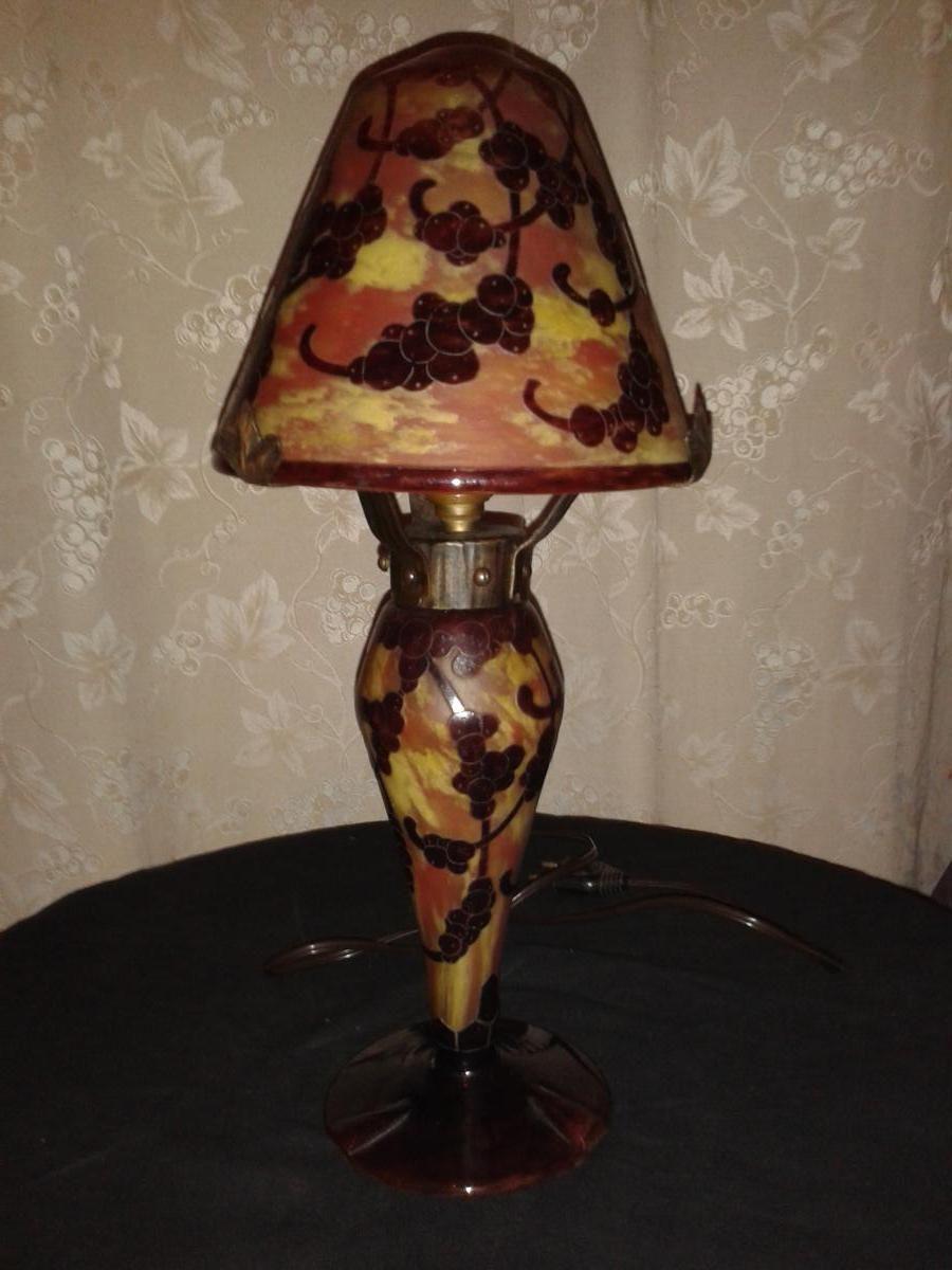 Lampe champignon le verre français pate de
