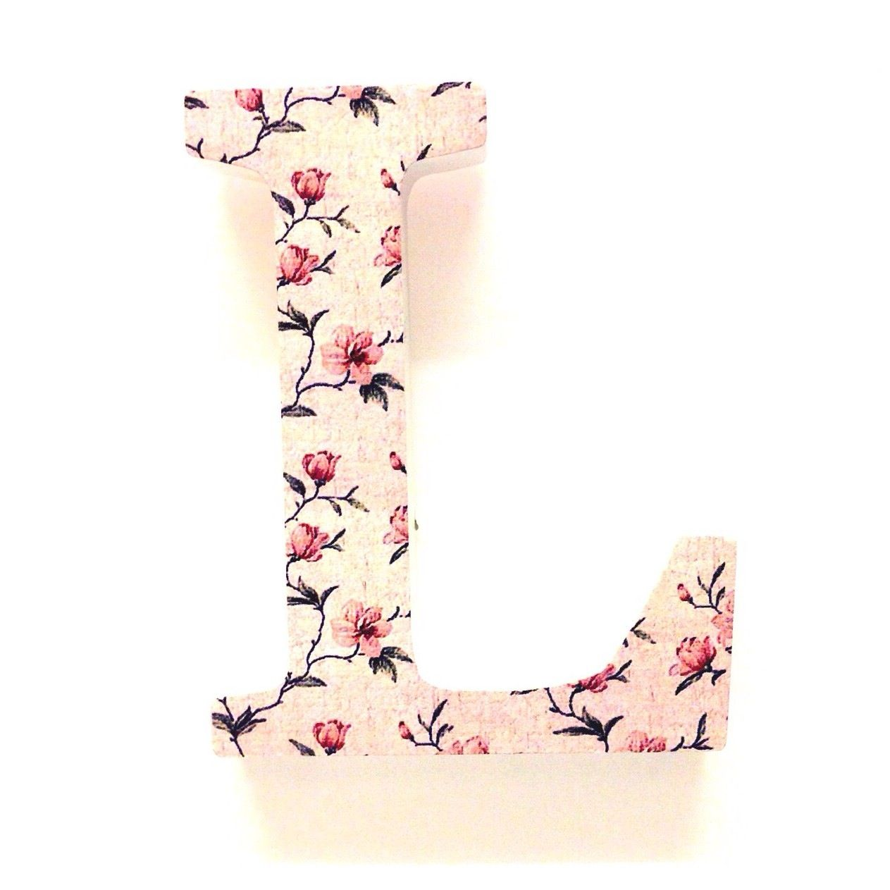 Wooden Floral LettersL Gift Floral Letters Prettytwisted