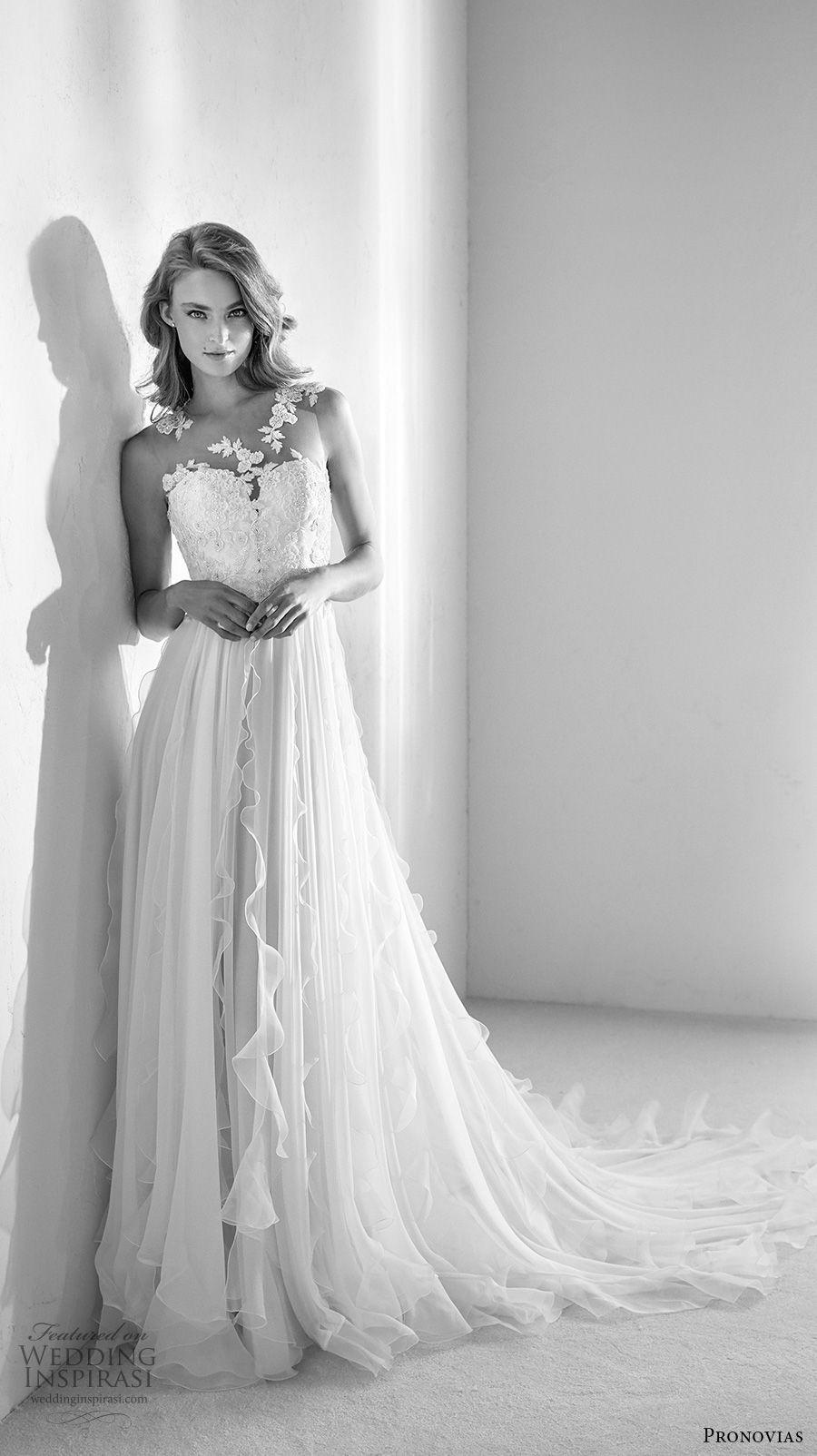 atelier pronovias 2018 Braut sleeveless Illusion Juwel halb Schatz ...