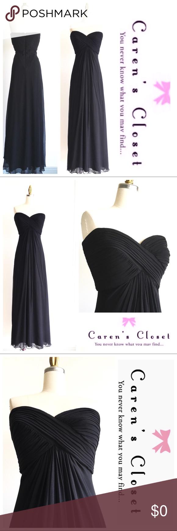 Tadashi Shoji Black Silk Strapless Formal Gown Tadashi Shoji Dresses Clothes Design Black Silk [ 1740 x 580 Pixel ]