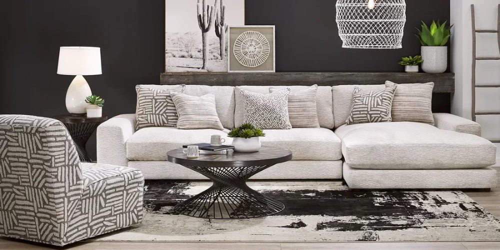 Cindy Crawford Home Monterey Park Off White 3 Pc Sectional In 2021 Living Room Sets Furniture Cindy Crawford Home Furniture