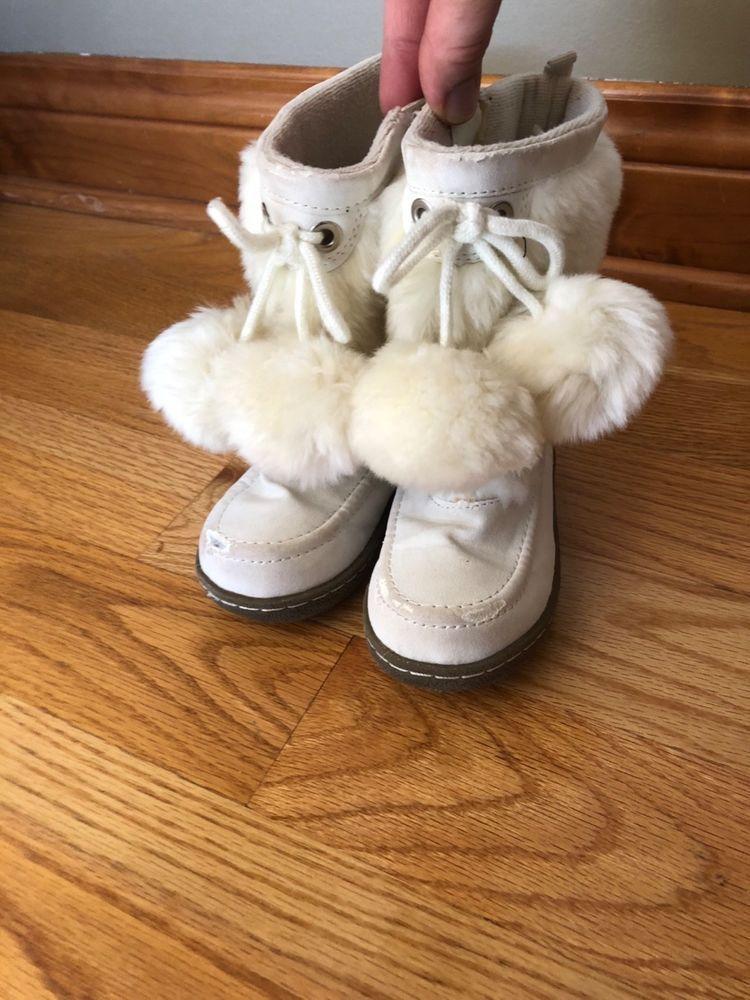 d16e342c6 baby gap girls size toddler 9 white faux fur winter boots #fashion ...