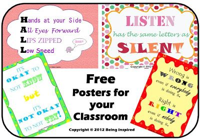 graphic about Free Printable Classroom Posters referred to as Cost-free Printable Clroom Posters against Remaining Motivated
