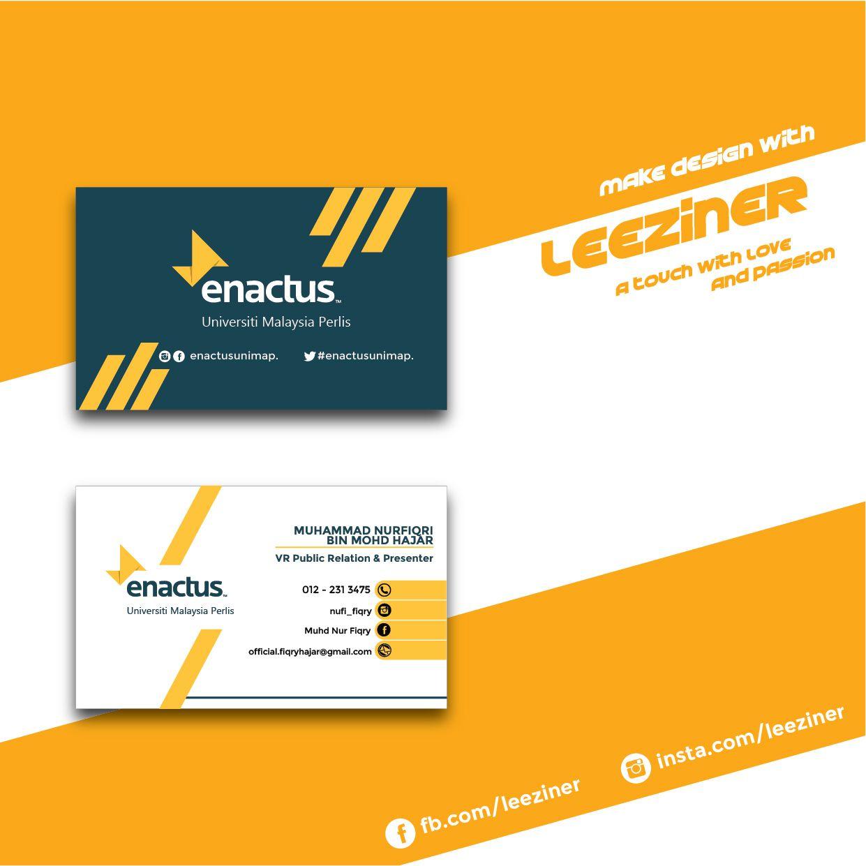 Enactus Unimap Business Card Make Design Cards Public Relations