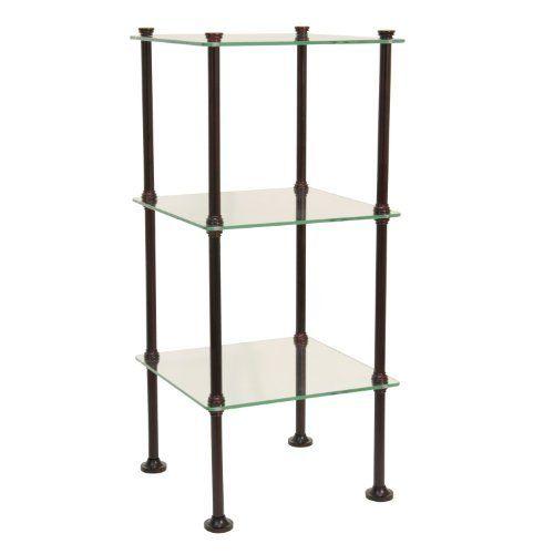Brushed Nickel Bathroom Shelving Unit: Shelves, Glass Shelves, Home