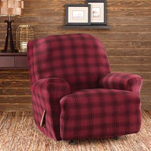 Sure Fit Stretch Belmont Plaid Recliner Slipcover For Recliner If