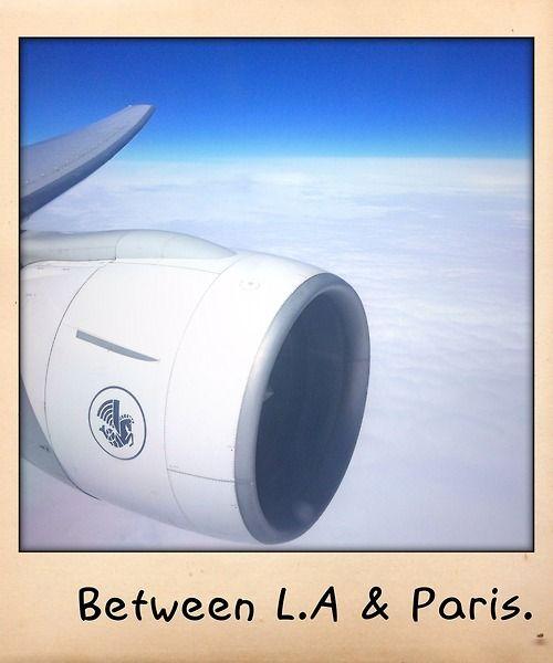between L.A & Paris.