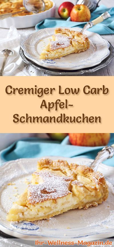 Photo of Creamy low carb apple sour cream cake – recipe without sugar