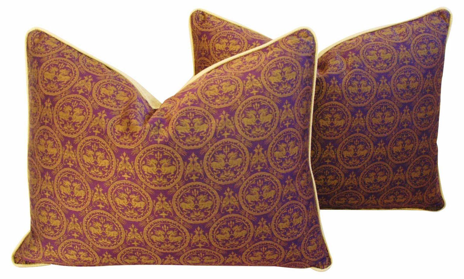 Pierre Frey Royal Medallion Pillows, Pr - Mike Seratt - Top Vintage Dealers - Vintage  One Kings Lane #Medallion#Pillows#Pr