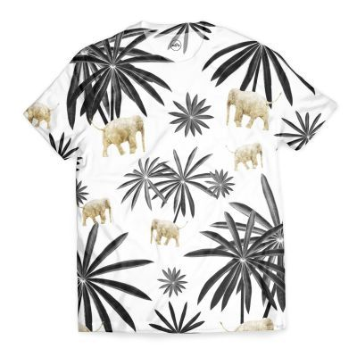 Palm Tree Elephant Jungle Pattern #1 (Kids Collection) #decor #art T-Shirt by AnitaBellaArt from £19.99 #junglepattern
