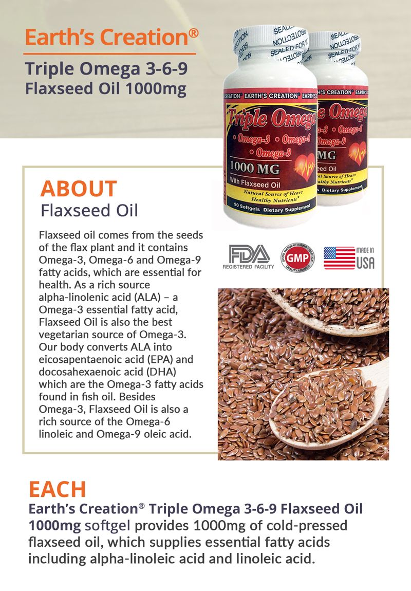 Flaxseed Oil 1000mg Vegetarian Omega 3 Omega 3 6 9 Lower