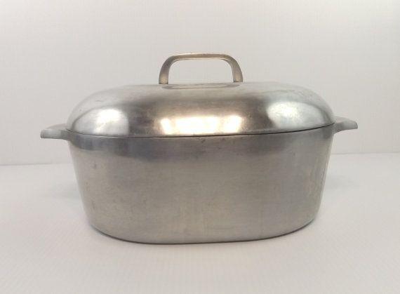 Wagner Ware Magnalite Sidney-O Aluminum Dutch Oven Roaster 4265 M Vintage Art Deco Mid Century Kitchen Ware #kitchenware