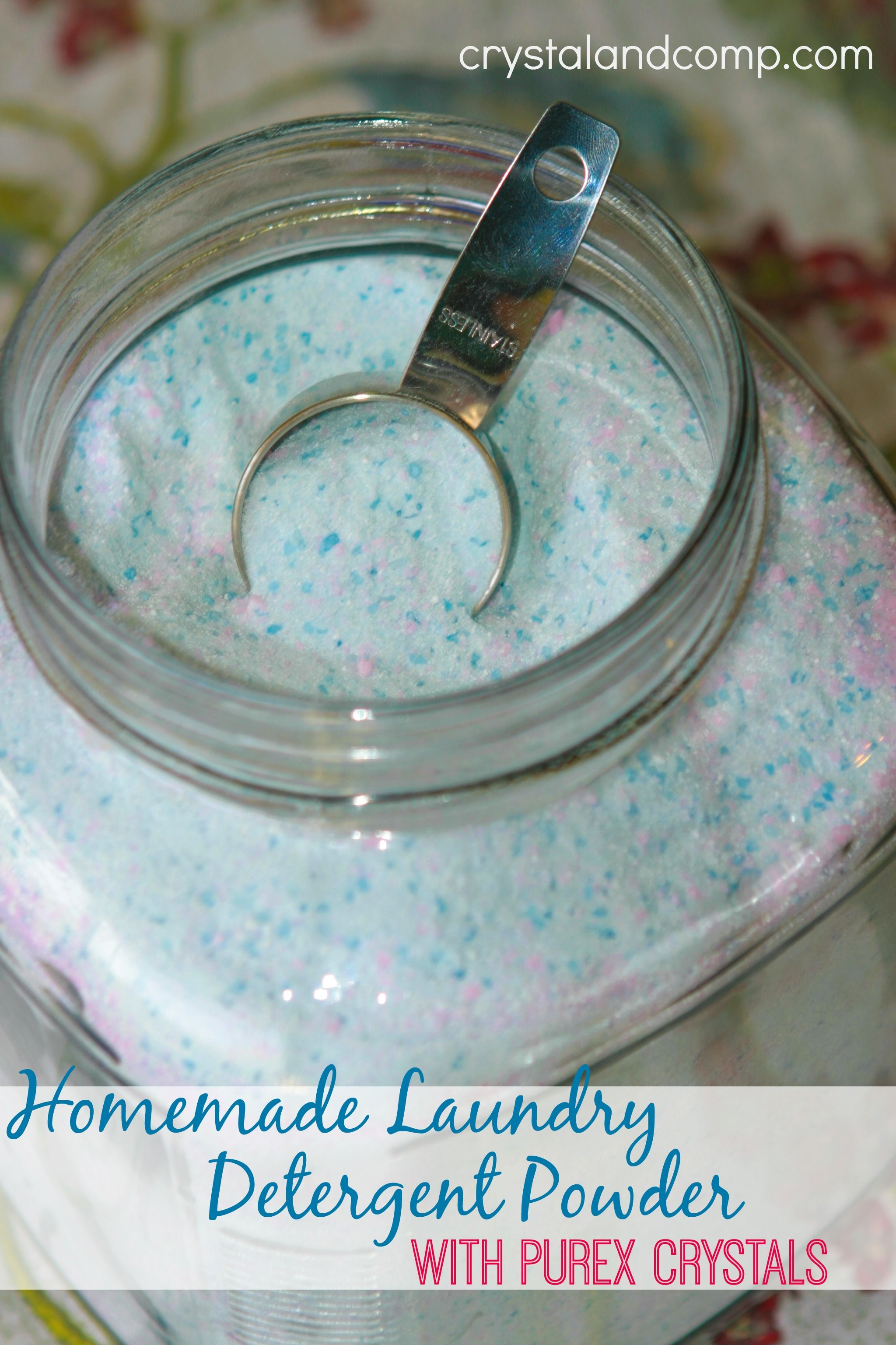 Homemade Laundry Detergent Powder With Purex Crystals Homemade
