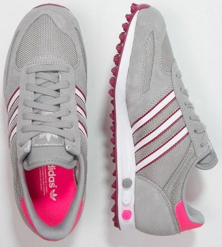 Adidas Originals LA Trainer tenis ó WKI me trampki Solid GRIS / White